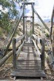 Stary Drewniany Huśtawkowy most przy Starym Noarlunga, Południowy Australia, przeor obraz stock