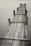 Stary drewniany jetty Fotografia Royalty Free