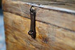 Stary drewniany klatki piersiowej keyhole Obraz Stock