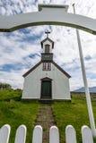 Stary drewniany kościół, Iceland obrazy royalty free