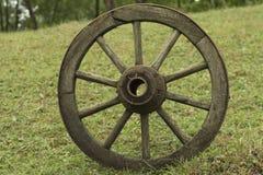 Stary drewniany koło Fotografia Stock