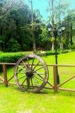 Stary drewniany koło Zdjęcia Stock