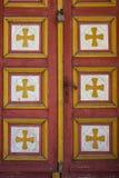 Stary drewniany kościelny drzwi Fotografia Royalty Free