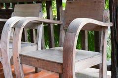 Stary drewniany krzesło na balkonie Fotografia Royalty Free