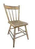 Stary drewniany kuchenny krzesło odizolowywający Zdjęcia Stock