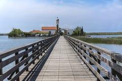 Stary drewniany most na kanale Zdjęcie Stock
