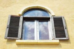 Stary drewniany okno fotografia stock