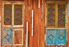 Stary drewniany okno Zdjęcia Stock