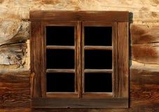 stary drewniany okno Zdjęcia Royalty Free