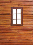 Stary drewniany okno obrazy stock