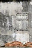 Stary drewniany okno, tło Obrazy Stock
