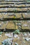 Stary drewniany płytka dach Zdjęcia Stock