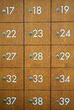 Stary Drewniany poczta pudełka rocznik Obraz Stock