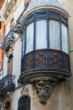 Stary drewniany podpalany okno Obrazy Royalty Free