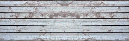 Stary drewniany pokład elongated Zdjęcia Royalty Free