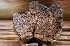 Stary drewniany promień blokhauz Obraz Stock