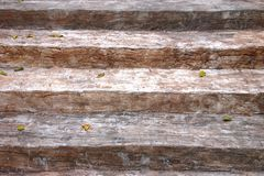 Stary drewniany schody Zdjęcie Royalty Free