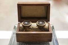 Stary drewniany stereogram widz Zdjęcie Stock