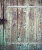Stary drewniany tła drzwi obraz stock