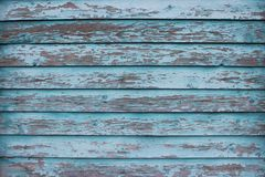 Stary drewniany tło, malujący w błękitnym kolorze obraz stock