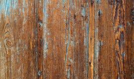 Stary drewniany tło z błękit pluskoczącą farbą Rocznika drewna tekstura zdjęcie stock
