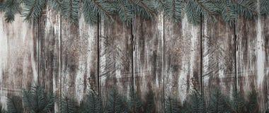 Stary drewniany tło z przestrzenią dla gratulacyjnej wiadomości z okazji zimy lub innych okazj zdjęcia stock