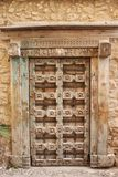 Stary drewniany venetian dekoracyjny drzwi fotografia stock