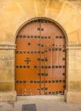 Stary drewniany w Bocznej ulicie w Ubeda fotografia stock
