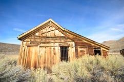 Stary Drewniany więzienie w miasto widmo fotografia stock