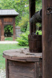 Stary drewniany wodny well Obraz Stock