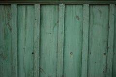 Stary drewniany zieleni ogrodzenie Fotografia Stock