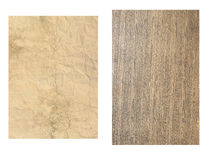 Stary drewno i papier Obraz Stock