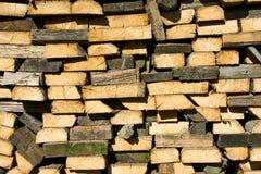 Stary drewno stos Zdjęcia Stock