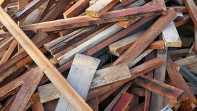 Stary drewno stos dla przetwarza Obrazy Stock