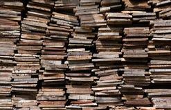 Stary drewno stos, sterta drewno Zdjęcie Stock
