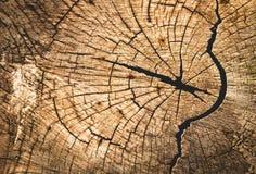 Stary drewno z sztuki drewnem pękał dla tła Zdjęcia Royalty Free