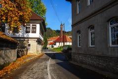 stary drogowy miasteczko Zdjęcia Royalty Free