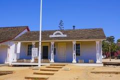 21, 2017 stary Drukowy biuro przy San Diego stanu Starym Grodzkim Historycznym parkiem SAN DIEGO, KALIFORNIA, KWIECIEŃ -/- Obraz Royalty Free
