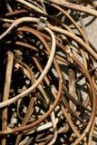 Stary drut jako tło Zakończenie Zdjęcia Royalty Free
