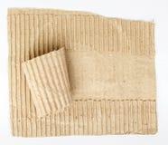 Stary drzejący kartonu papier Zdjęcia Royalty Free