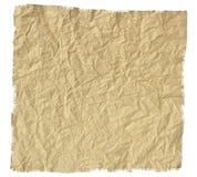 Stary drzejący zmięty papier Obrazy Royalty Free