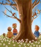 stary drzewo ilustracja wektor