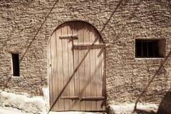 Stary drzwi, kędziorek Fotografia Royalty Free
