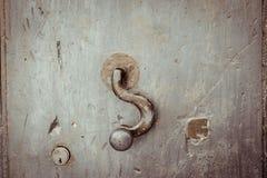Stary drzwi, kędziorek Obraz Stock