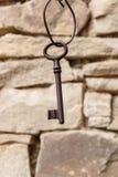 Stary drzwi klucz obrazy stock