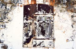 Stary drzwi, ruina obraz stock