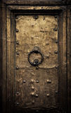 Stary drzwi, Rzym, Włochy Obrazy Stock