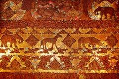 Stary drzwi szczegół w Vientain, Laos Obrazy Royalty Free