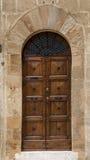 Stary drzwi, Tuscany, Włochy Zdjęcie Stock