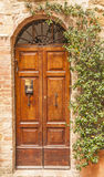 Stary drzwi, Tuscany, Włochy Obraz Stock